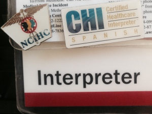 Did someone call for an interpreter?